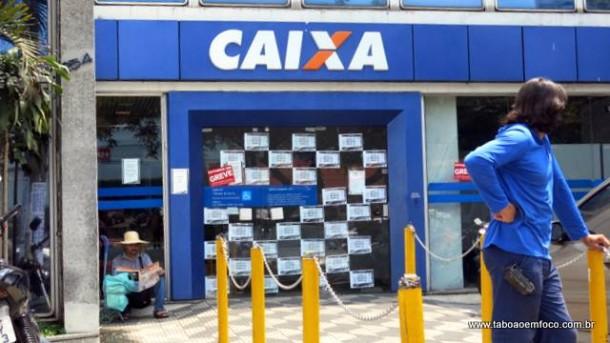 Agência da Caixa na Rua do Tesouro, no Parque Santos Dumont, voltou a funcionar das 10h às 16h
