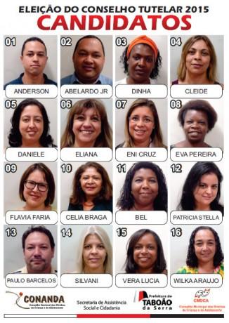 Candidatos do Conselho Tutelar de Taboao da Serra
