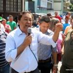 Jose Aprigio durante manifestacao