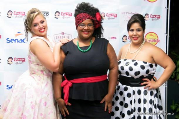 A blogueira Alice Primo (centro) diz que o mercado Plus Size está em alta.