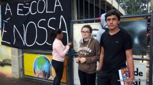 Daniele Soares e Aaron Cargnin participam da ocupação em Taboão da Serra.