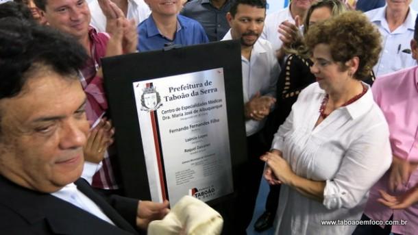 Fernando Fernandes inaugura Centro de Especialidades Médicas de Taboão da Serra.
