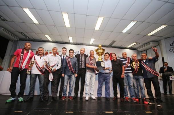 Premiação dos Melhores do Ano de 2015 aconteceu no Cemur com a presença do técnico Muricy Ramalho (Foto: Ricardo Vaz / PMTS)