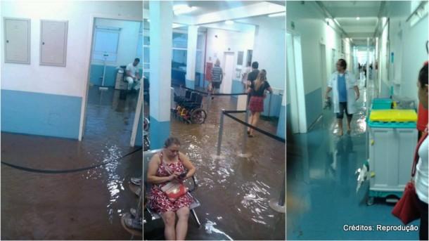 Fotos mostram UPA de Taboão da Serra alagada após chuvas do dia 26 de dezembro.