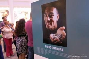 Um dos homenageados na exposição do Shopping Taboão.