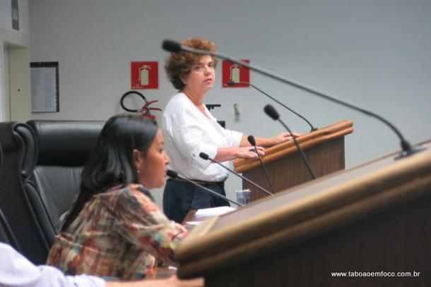 Secretária de Saúde, Raquel Zacainer, apresenta balanço das ações de sua secretaria em 2015.