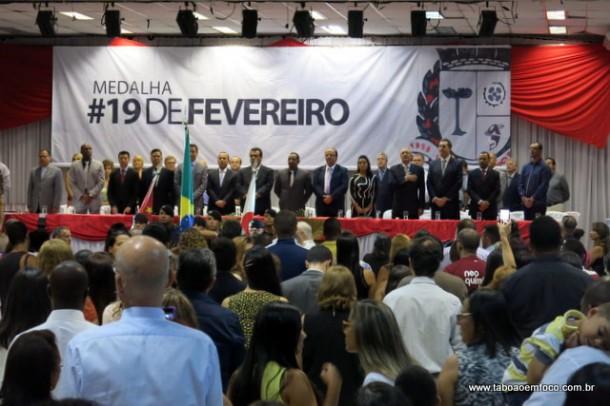 A única festividade em Taboão da Serra aconteceu um dia antes com entrega de medalhas comemorativas.