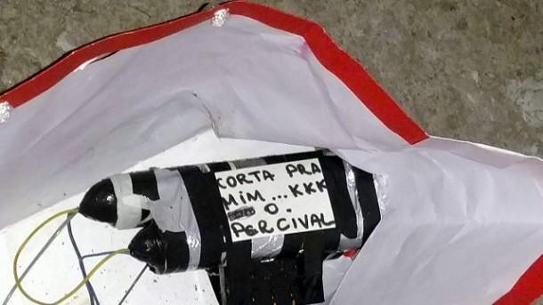Artefato encontrado na Câmara de Taboão da Serra na noite de terça (29). (Foto: Reprodução)