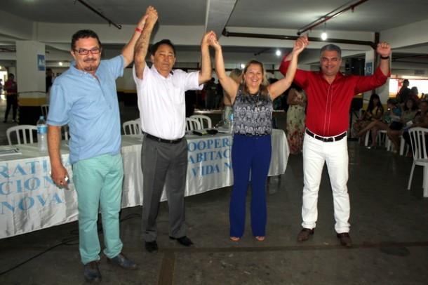 Diretores da Cooperativa Vida Nova (Foto: Vera Lima)