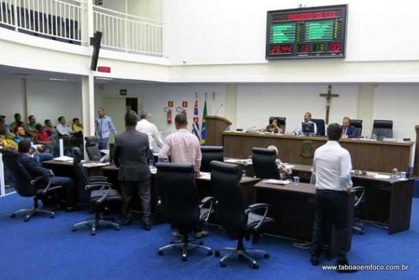 Após exaustiva negociação, vereadores mantém subsídio de R$ 10 mil a próxima legislatura.