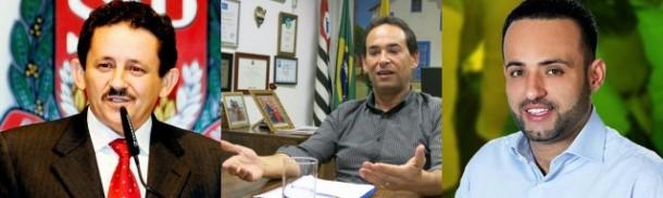 Geraldo Cruz não consegue apoio exclusivo do prefeito Geraldo Cruz; Ney Santos é o principal beneficiado com 'isenção' do ex-petista beneficia Ney Santos. (Fotos: Reprodução Facebook)