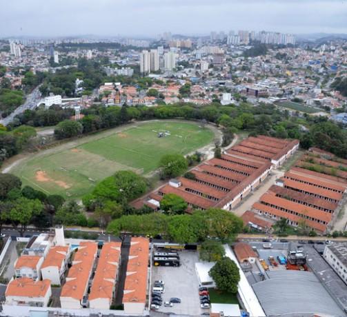Vista aérea do novo parque da cidade de São Paulo, localizado a poucos metros de Taboão da Serra. (Foto: Reprodução)