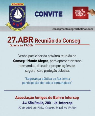 Reuniao Conseg Monte Alegre