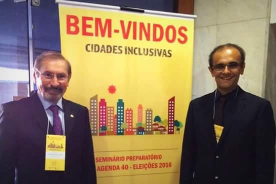 Em Brasília, Evilásio e Ronaldo Dias se aproximam para disputar eleições de 2016.