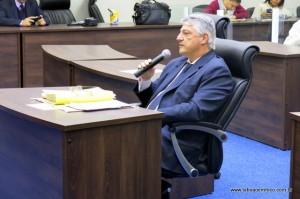 Secretário de assuntos jurídicos Joel Ney De Sanctis Jr durante CPI da Cooperativa Vida Nova.