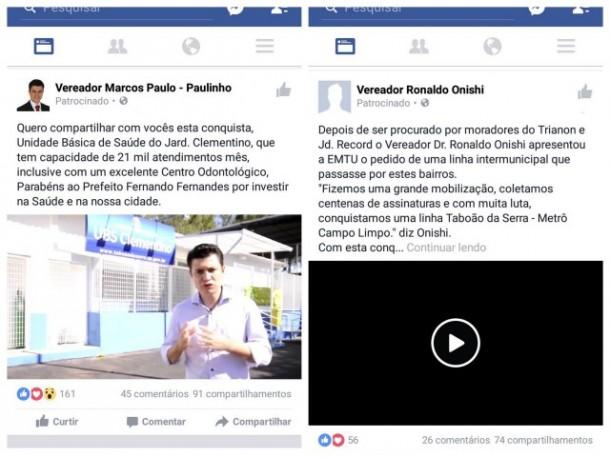 Postagem Facebook