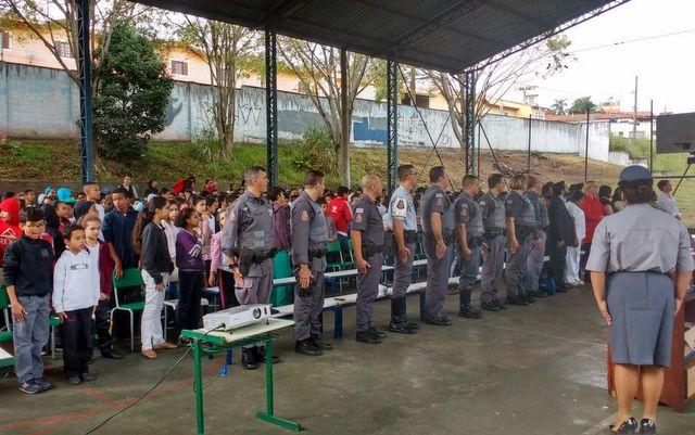 Integração entre a PM e alunos durou uma semana e foi alvo de elogios. (Foto: Divulgação)
