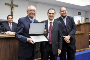 Dr. André da Sorriso foi homenageado por Líderes da Igreja Adventista pelo trabalho realizado em prol da Liberdade Religiosa. (Foto: Divulgação)