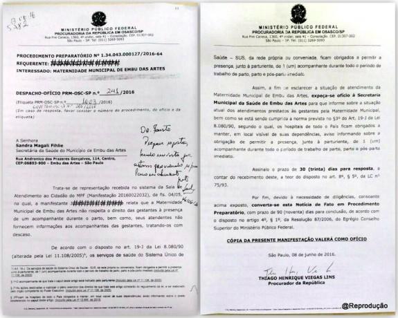 Com base neste documento, alguns vereadores de Embu das Artes 'inventaram' uma justificativa para o fechamento da maternidade.