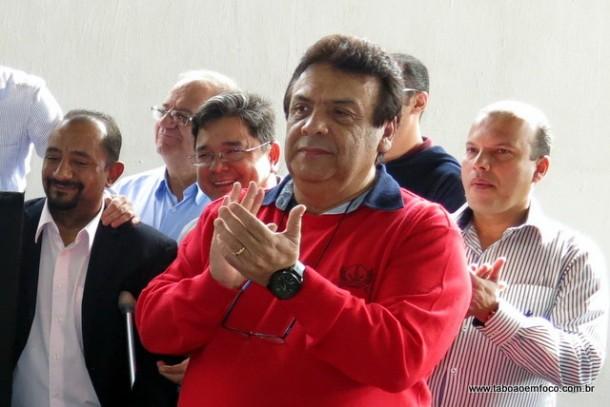 Fernandes durante inauguração do Corpo de Bombeiros de Taboão da Serra.