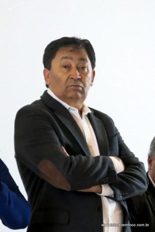 Jose Aprigio durante coletiva em 2016
