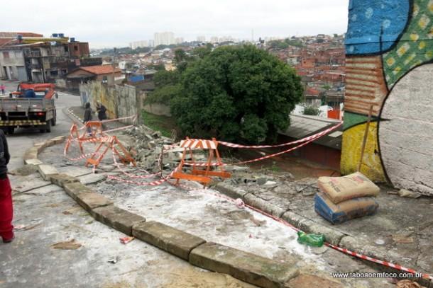 Mudo da escola terá que ser reconstruído em Taboão da Serra.