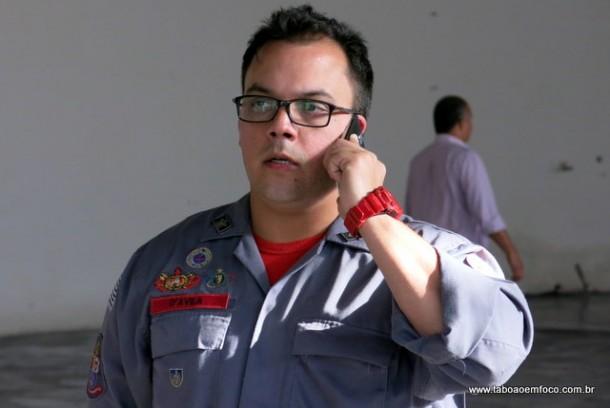 1º Tenente D'Ávila vai comandar o posto de Taboão da Serra. Ele já é responsável pelos postos de Embu das Artes e Itapecerica da Serra do Corpo de Bombeiros.