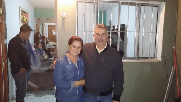 Buscarini tem feito uma série de visitas durante sua pré-campanha. (Foto: Reprodução)