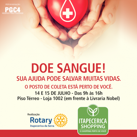 Cartaz Itapecerica Shopping Doacao Sangue