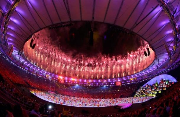 Cerimônia de abertura dos Jogos Olímpicos Rio 2016, no Maracanã. (Foto: Agência Brasil)