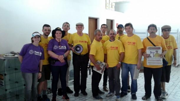 Militantes do Psol prometem muito empenho nas eleições municipais. (Foto: Gilmar Júnior)
