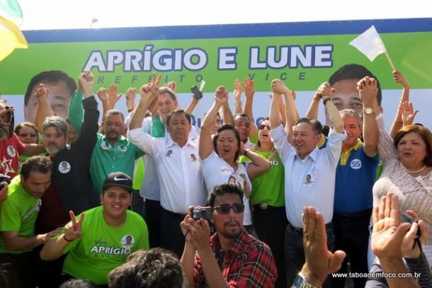 Convenção confirma: Aprígio e Lune para prefeito e vice, respectivamente.