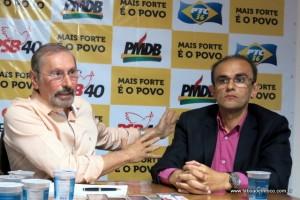 Evilásio Farias garante que o PSB terá candidato a prefeito até o final. Ronaldo Dias, do PSB, é o vice.