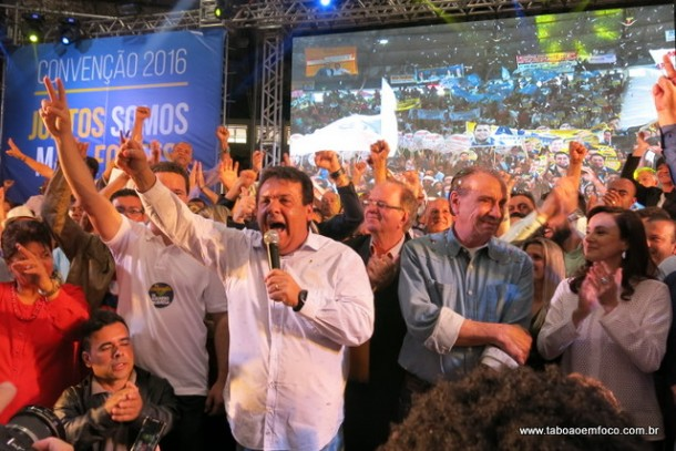 Convenção do PSDB oficializa Fernando Fernandes como candidato a reeleição.