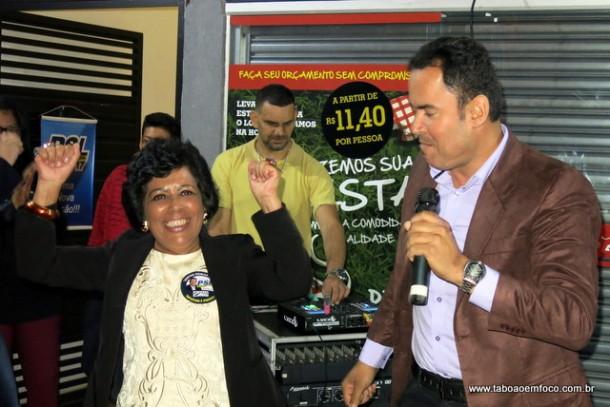 Vitor Medeiros e Gilda Nunes oficializam chapa de candidatos a prefeito e vice.
