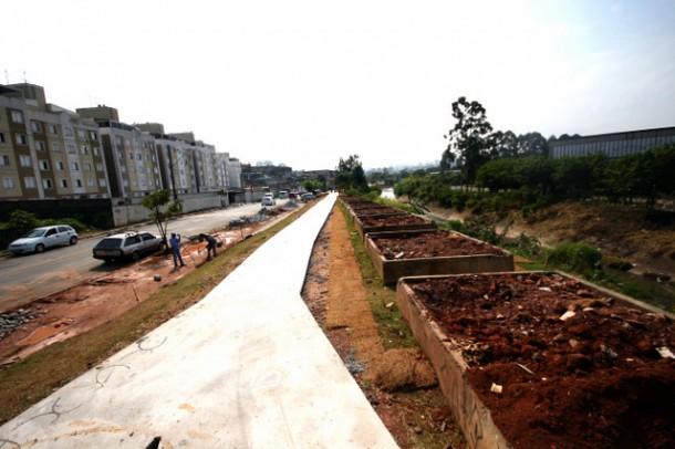 Moradores do Jardim das Oliveiras logo terão um Parque Linear à disposição para caminhadas e a pratica de atividades. (Foto: Divulgação / PMTS)
