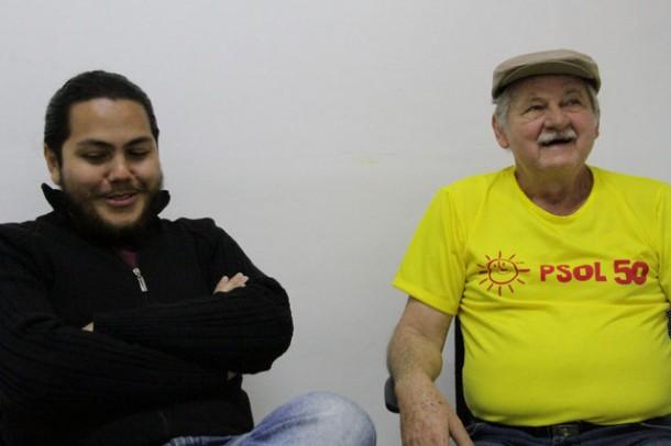 O candidato a vice Evandro Garcia e Stan, que disputa a Prefeitura de Taboão da Serra pela segunda vez.