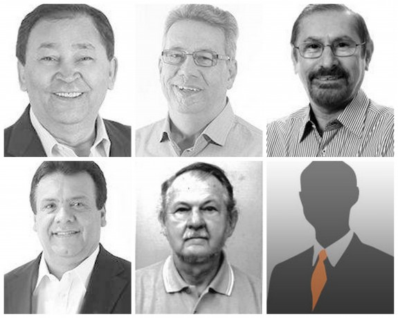 Candidatos a prefeito de Taboão da Serra, na ordem formulada pelo TSE. O candidato Vítor Medeiros na teve a foto publicada ainda. (Fotos: Reprodução TSE)