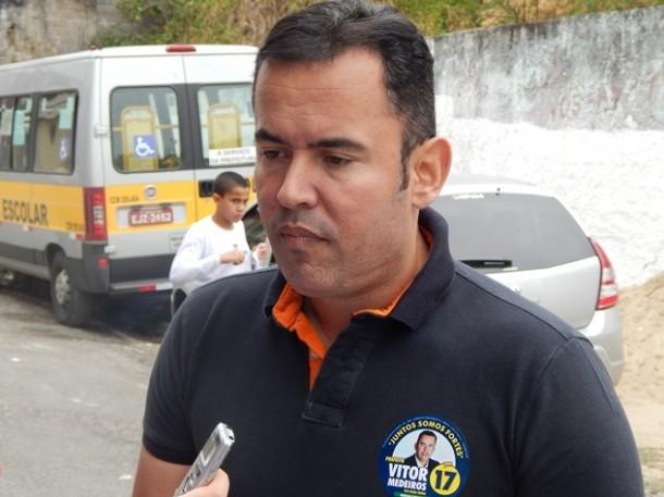 Vítor Medeiros diz confiar que estará no segundo turno. (Foto: Rose Santana)