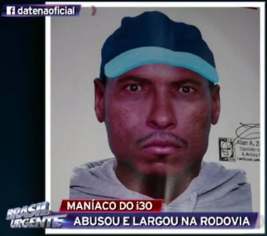 Retrato falado do homem acusado de estuprar jovem em Taboão da Serra. (Foto: Reprodução)