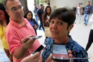 Rita de Cássia em sua primeira entrevista após a eleição.