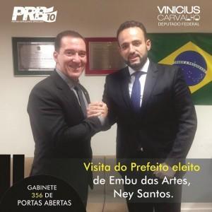 Deputado federal Vinicius Carvalho e Ney Santos durante encontro em Brasília. (Foto: Divulgação)