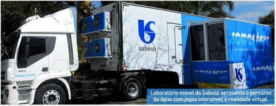 """Carreta itinerante """"Somos Água"""", da Sabesp, estará amanhã, 1 de novembro, no Shopping Taboão.. O projeto traz cinema, óculos de realidade virtual e jogos interativos. (Foto: Divulgação)"""
