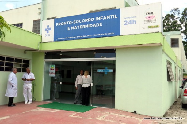 Fachada do PSI e maternidade reinaugurada em Embu das Artes.
