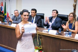 Priscila é diplomada pela Justiça Eleitoral de Taboão da Serra.