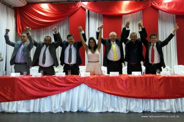 Grupo dos 7 que vai comandar a Câmara Municipais pelos próximos dois anos.
