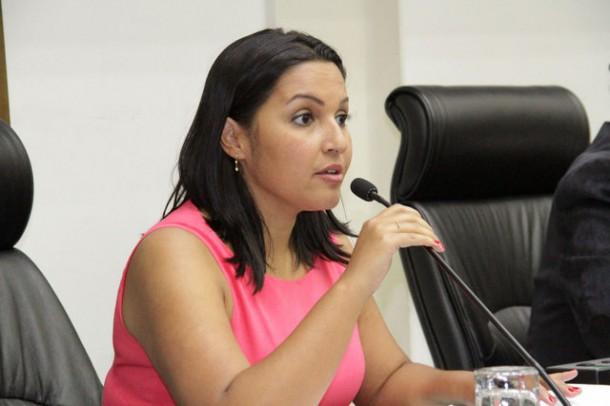 Joice Silva é a primeira mulher a presidir a Câmara de Taboão da Serra. (Foto: Eduardo Toledo / Câmara de Taboão da Serra)