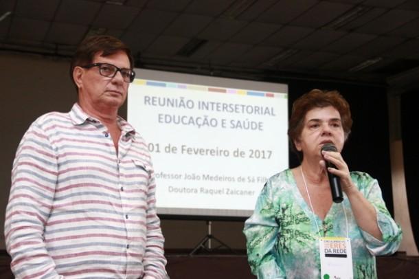 Secretário de Educação João Medeiros e a secretária de saúde Raquel Zaicaner farão trabalhos conjuntos ao longo de 2017. (Foto: Ricardo Vaz / PMTS).