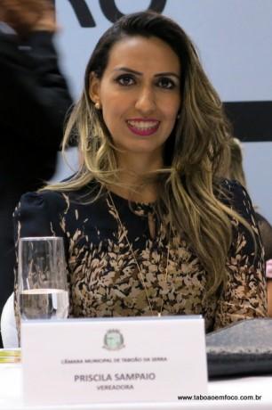 Vereadora Priscila Sampaio está em seu primeiro mandato como vereadora.