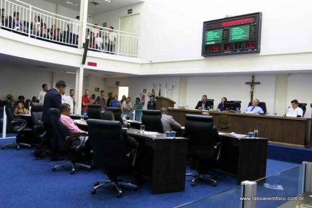 Vereadores aprovaram requerimento com moção de repúdio contra proposta da Previdência do presidente Temer.